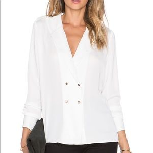 L'Academie the military blouse revolve xs ivory